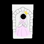 księżniczka -limonkowy zamek